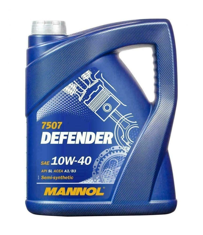 MANNOL Defender 5L Semi-Synthetic Engine Oil 501.01/505.00 10W-40 SL ACEA A3/B3