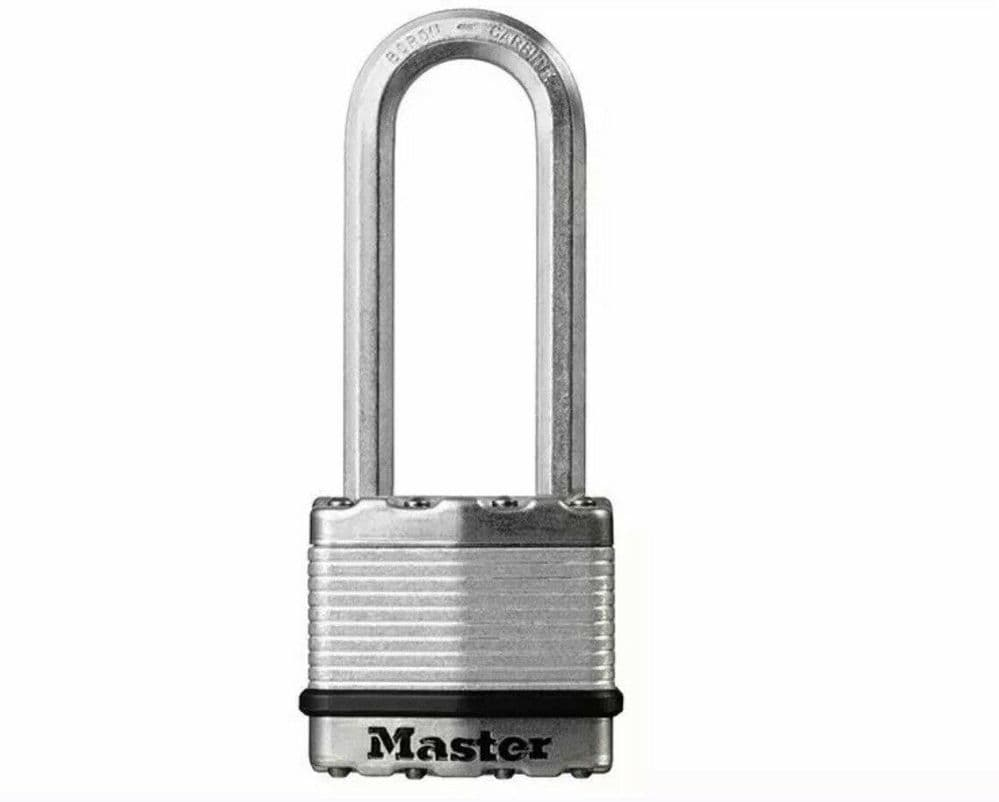 Master Lock Excell Laminated Steel 45mm Padlock - 64mm Shackle M1DLJ New Sealed