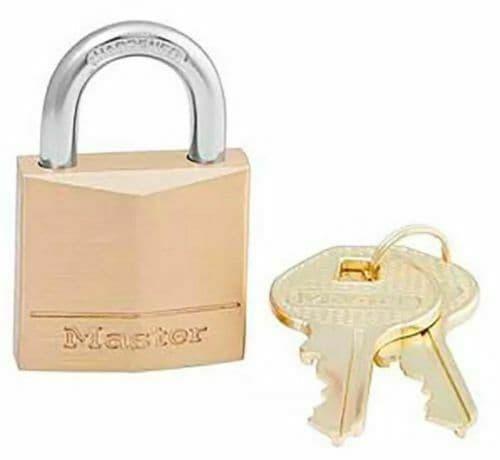 Master lock Padlock Brass 30mm 130D Brand New