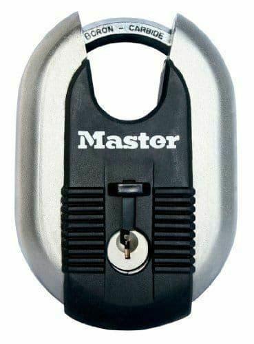 Master Lock Padlock, Excell Laminated Steel Padlock, Brass Finish, High Security