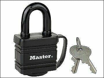 Master Lock Weather Tough 40mm Padlock Black Finish MLK7804