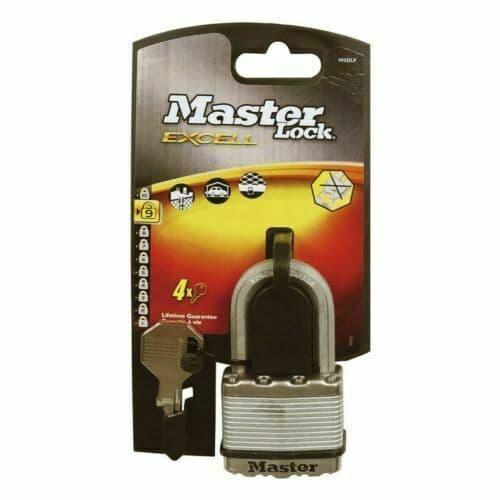 Masterlock M5EURDLF Excell Laminated Steel 50mm Padlock - 38mm Shackle