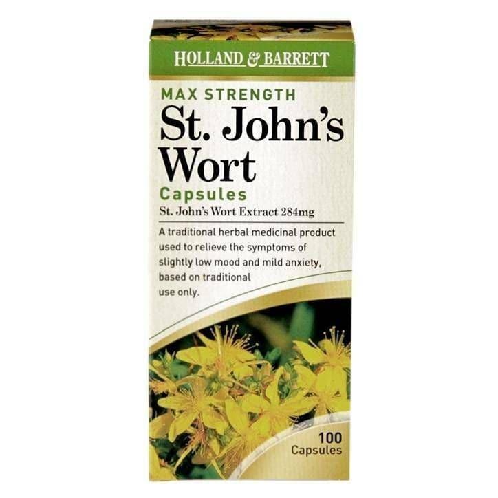 Maximum Strength St John's Wort Capsules 100 Capsules 284mg Be the first