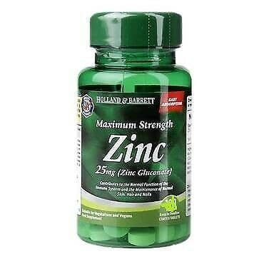 Maximum Strength Zinc 60 Tablets 25mg