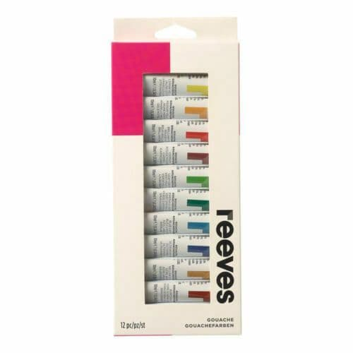 New Reeves Gouache Colours Assortment, 12x10ml