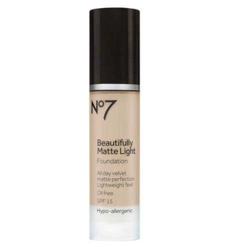 No7 Beautifully Matte Light Foundation 30ml - warm ivory