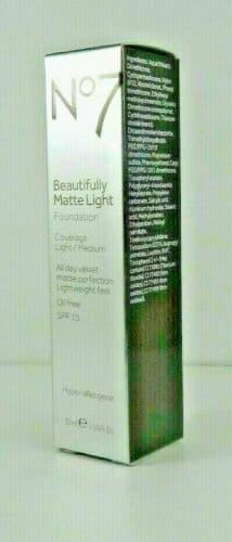 No7 Beautifully Matte Light Foundation Cool Ivory 30ml BNIB