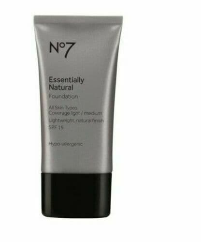 NO7 ESSENTIALLY NATURAL FOUNDATION 40ML COOL BEIGE BRAND NEW SPF15