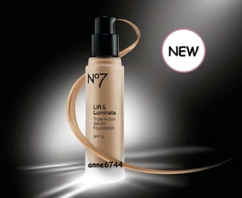 No7 Lift & Luminate TRIPLE ACTION Serum Foundation Wheat