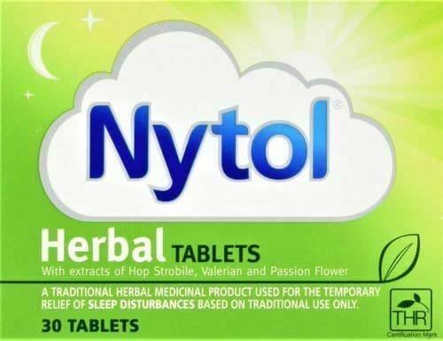Nytol Herbal Good Sleep Aid Tablets Insomnia Sleeping Natural 30 Tablets FREE DE