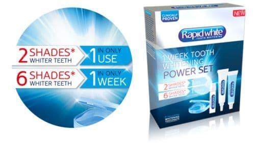 Rapid White 1 Week Tooth Whitening Power Set + Whitening Toothpaste new