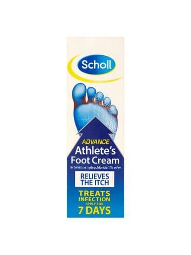 SCHOLL ATHLETES FOOT CREAM 15G Anti-Fungal Soothes Itching