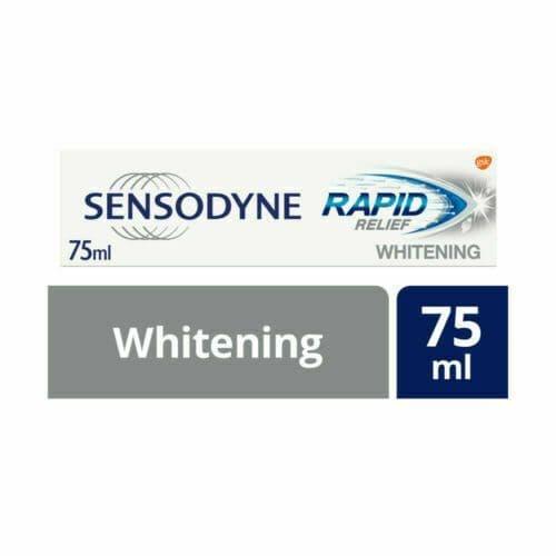 Sensodyne Sensitive Whitening Toothpaste, Rapid Relief Whitening, 75 ml x 1 Be t