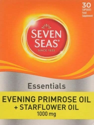 Seven Seas Evening Primrose Once A Day Plus Starflower Oil 1000 mg - 30 Capsules