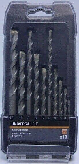 Universal Fit Masonry Drill Bit Set, 10 Pieces