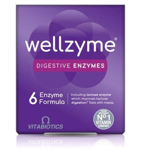 Vitabiotics Wellzyme Digestive Enzymes 6 Enzyme Formula 60 Capsules