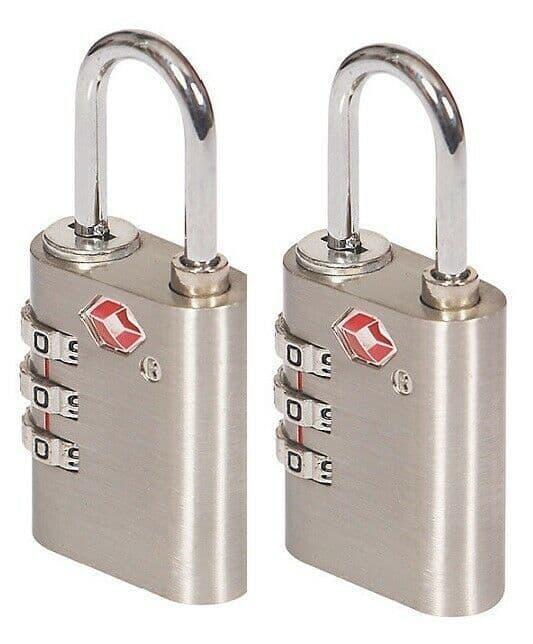 X 2 Smith & Locke Zinc Combination Steel open shackle Padlock (W)30mm