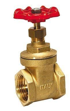 "¾"" gate valve - brass"