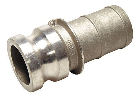 "1"" cam adaptor c/w hose tail - part E"
