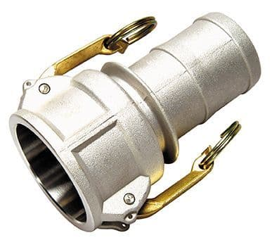 """100mm(4"""") cam coupling c/w hose tail - part C"""
