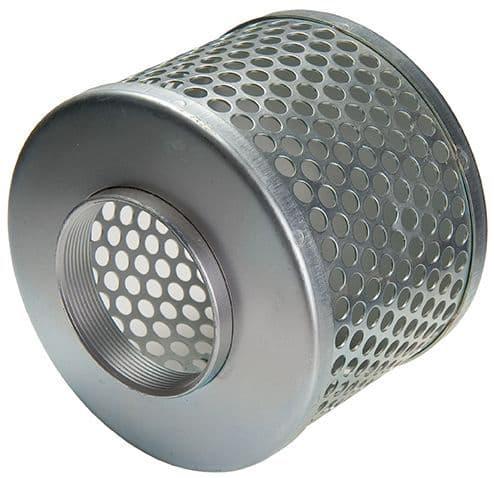 """100mm (4"""") strainer c/w female BSP   -  tin"""
