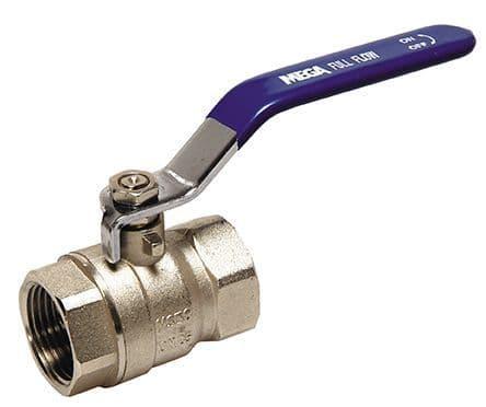 """2½"""" ball valve  - brass"""