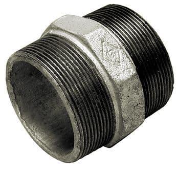 """2½"""" x 2"""" nipple - galvanised iron"""