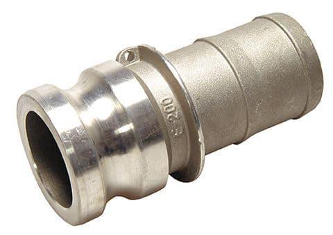 """3"""" cam adaptor c/w hose tail - part E"""