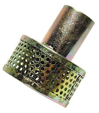 "32mm (1¼"") strainer c/w hose tail   -  tin"