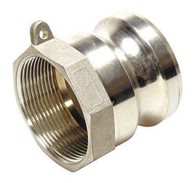 """4"""" cam adaptor c/w female BSP - part A"""