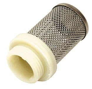 Fine mesh strainer c/w male BSP  - stainless steel