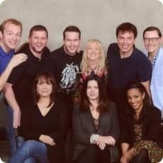 Jayne with Torchwood cast
