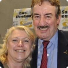 John Challis and Caroline