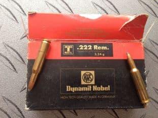 Dynamit Nobel .222 soft point x 20 rounds