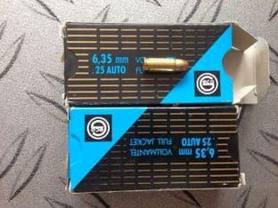 Geco .25 Auto x 100 rounds