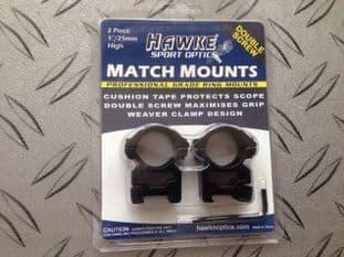 Hawke Sport Optics Two Piece One Inch weaver High Double Screw Match Mount Scope Mount e
