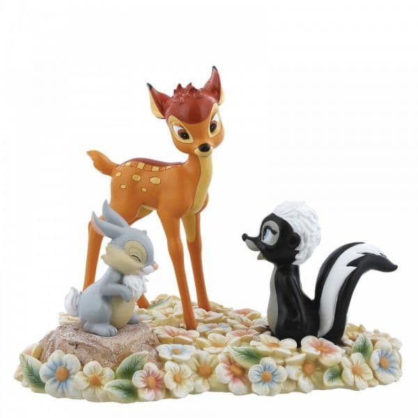 Disney Enchanting A28730 Pretty Flower (Bambi, Thumper and Flower Figurine)