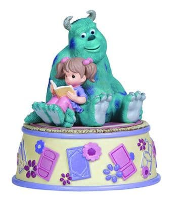 Disney Precious Moments 132105 Girl Reading With Sully Musical New & Boxed