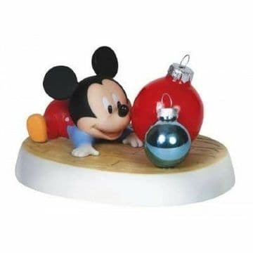 Disney Precious Moments 151707 Mickey With Ornaments Figurine New & Boxed