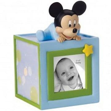 Disney Precious Moments 152703 Baby Mickey Mouse Photo Bank Figurine New & Boxed