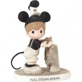 Disney Precious Moments 181096 Steamboat Willie Figurine  Porcelain