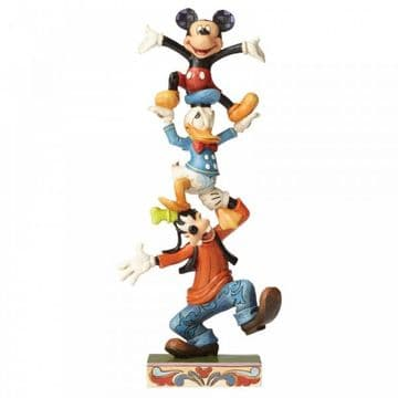 Disney Traditions 4055412 Teetering Tower (Goofy, Donald Duck & Mickey Mouse