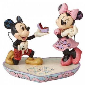 Disney Traditions 4055436 A Magical Moment (Mickey Proposing to Minnie)