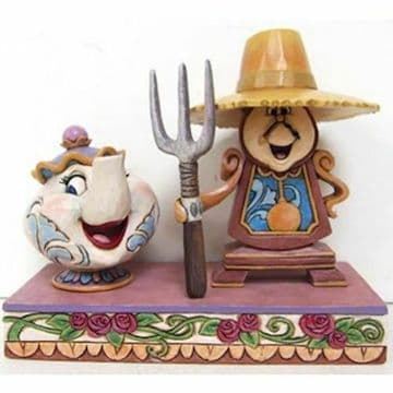 Disney Traditions 6002813 Potts & Cogsworth Figurine New & Boxed