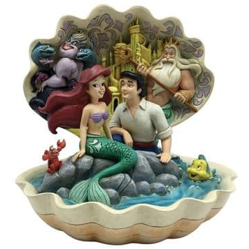 Disney Traditions 6005956 Seashell Scenario (The Little Mermaid  Scene)