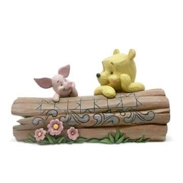 Disney Traditions 6005964 Pooh And Piglet On A Log Figurine