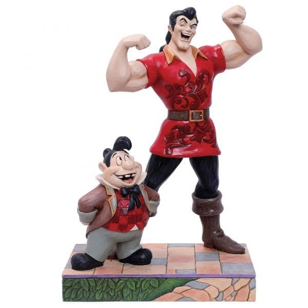 Disney Traditions 6005969 Muscle-Bound Menace (Gaston and Lefou Figurine)