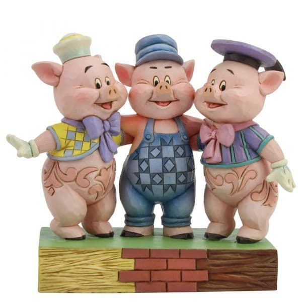 Disney Traditions 6005974 Squealing Siblings (Silly Symphony Three Little Pigs)