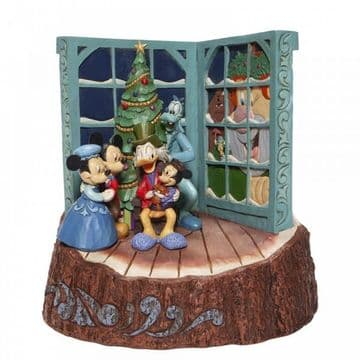 Disney Traditions 6007060 Carved by Heart Mickey Mouse Christmas CarolFigurine