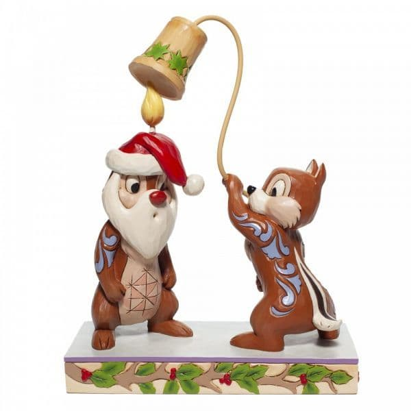 Disney Traditions 6007070 Christmas Chip 'n Dale Figurine
